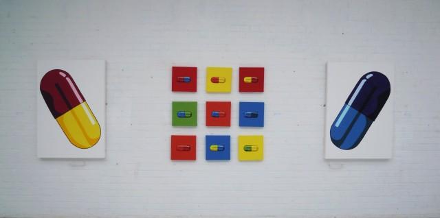 pills wall